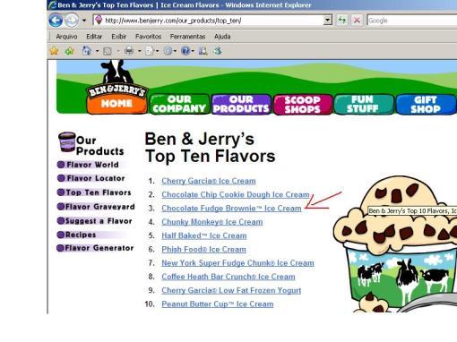 Top 10 dos sabores